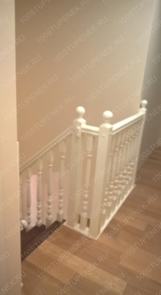 Лестница из бук на второй