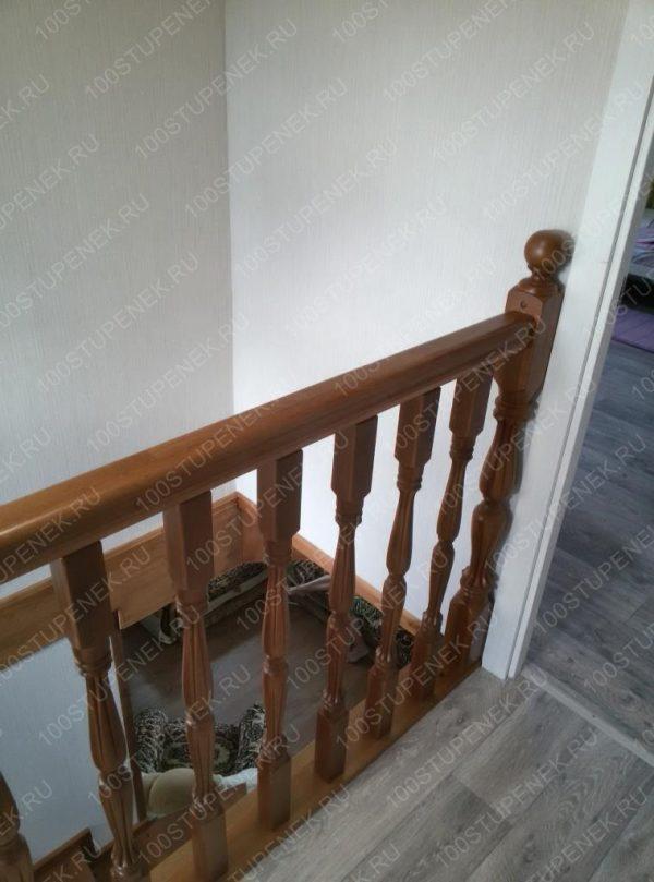 Лестница из бука и металла