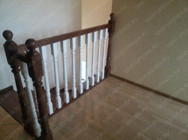 Лестница из дуба на второй этаж