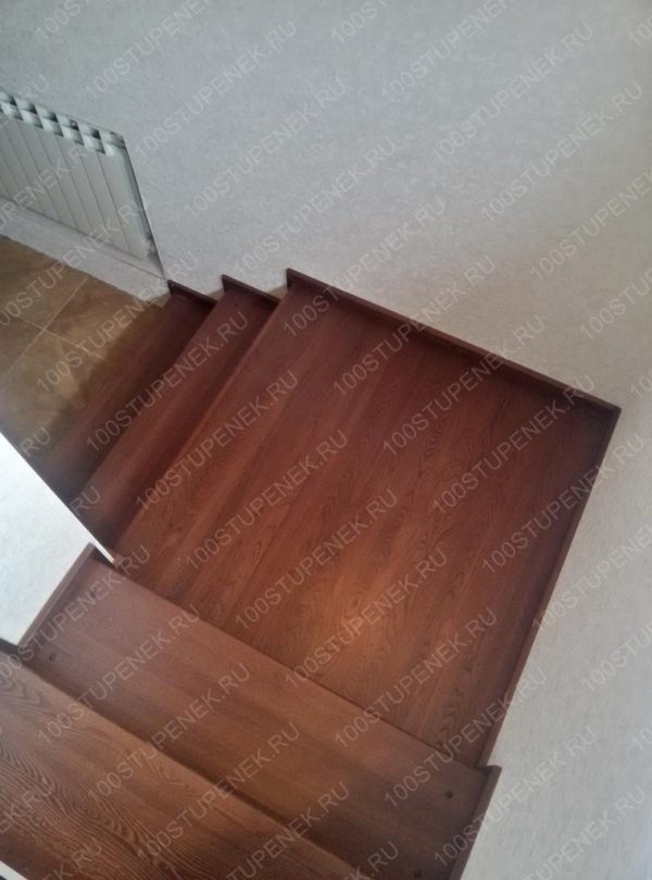 Проект лестницы из дуба