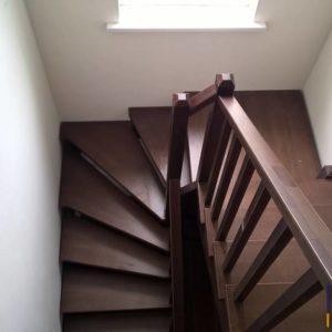 Лестница из бука и сосны
