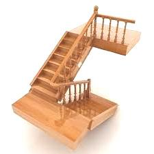 П-образная лестница 3D-модель