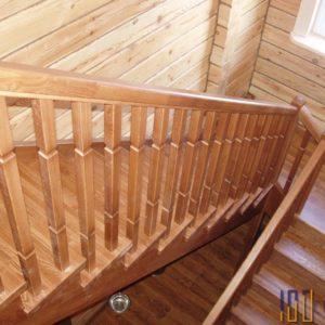 Лестница из дуба на 180