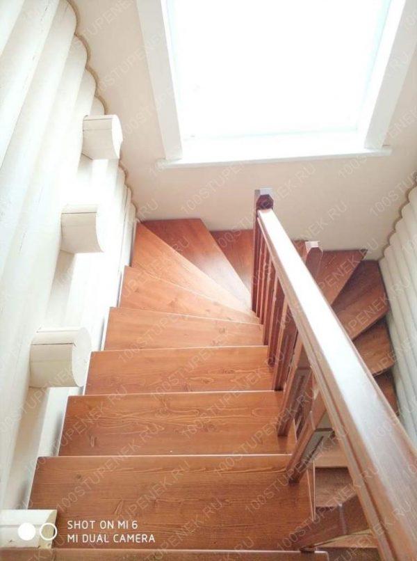 Забежная лестница на 180