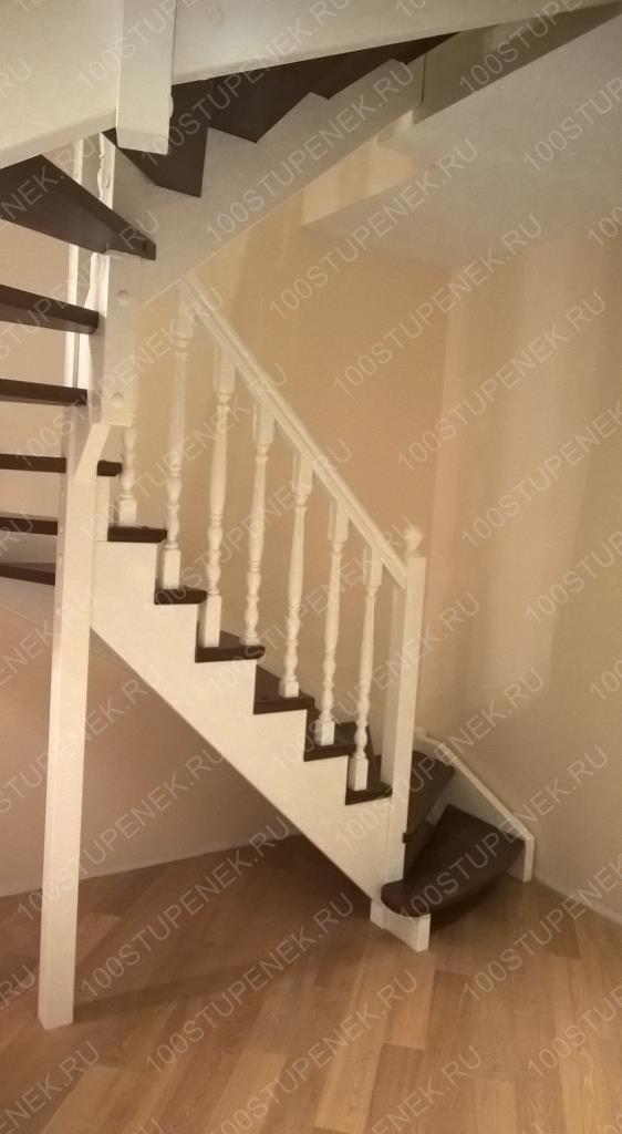 Лестница из бука на второй этаж