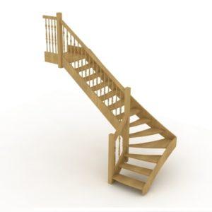 3D модель Г-образной лестницы