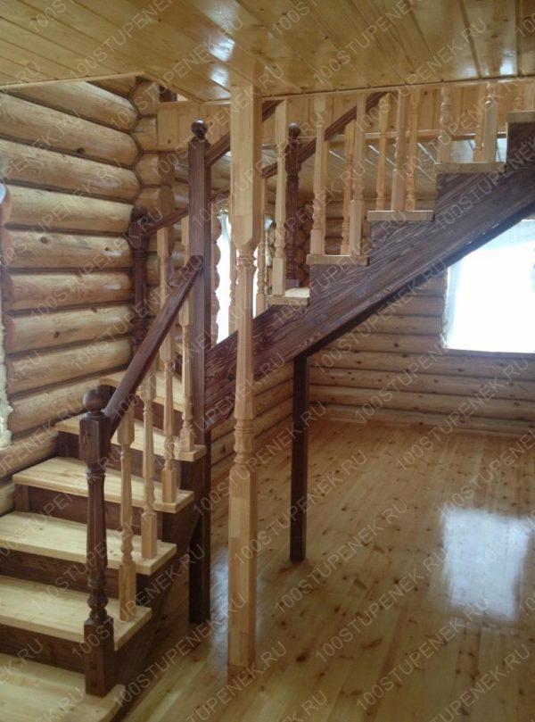 Лестница с поворотом на 90