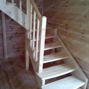 Г-образная лестница на второй этаж