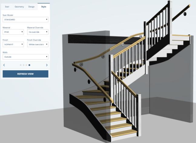 моделирование лестниц