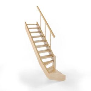 Проект прямой лестницы на второй этаж