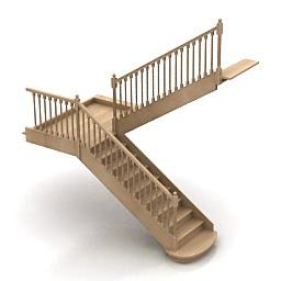 3D модель лестницы на 180 градусов
